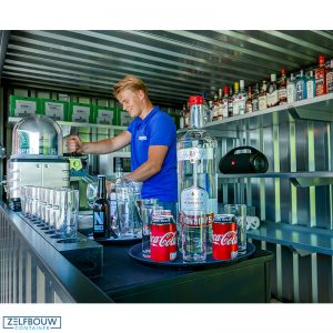 Inrichting mobiele buitenbar demontabele bar container, pop up container