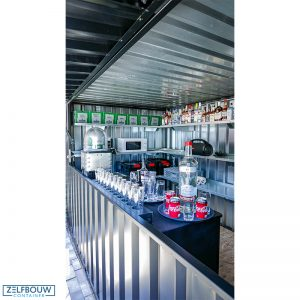 Interieur pop up bar container Zelfbouwcontainer Nederland