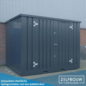 Chemische container 2 x 2 - Dubbele deur in kleur