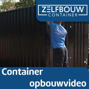 Demontabele Container Zwart 3 x 2 dubbele deur korte zijde