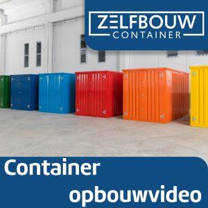Demontabele Container Donkerblauw 4 x 2 dubbele deur korte zijde
