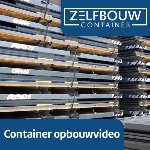 Demontabele Container 2 x 2 dubbele deur korte zijde (tweedehands)