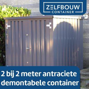 Demontabele Container Grijs 2 x 2 dubbele deur korte zijde